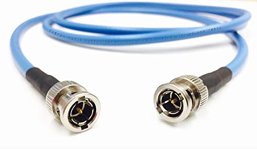 - Custom Cable Connection 75 Foot Belden 1694A 6G HD-SDI RG6 BNC Cable (75 Ohm) Blue Jacket