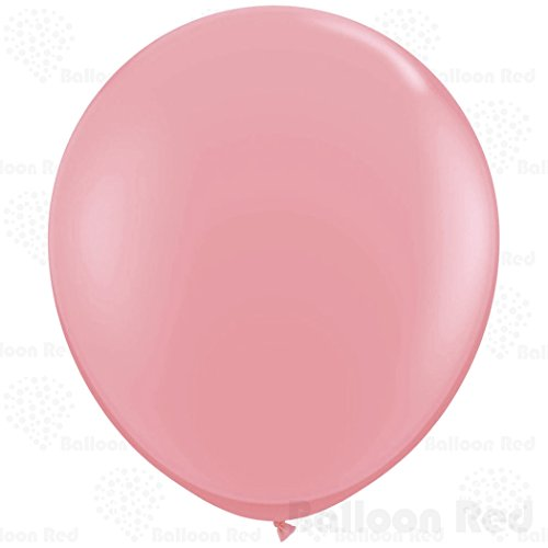 27 Inch Giant Jumbo Latex Balloons (Premium Helium Quality), Pack of 6, Regular Shape - Baby Pink