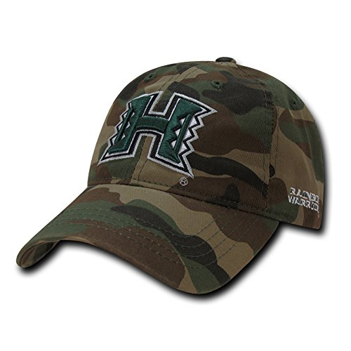 - W Republic NCAA Hawaii Rainbow Warriors Relaxed Camo Cap, One Size, Woodland Camo