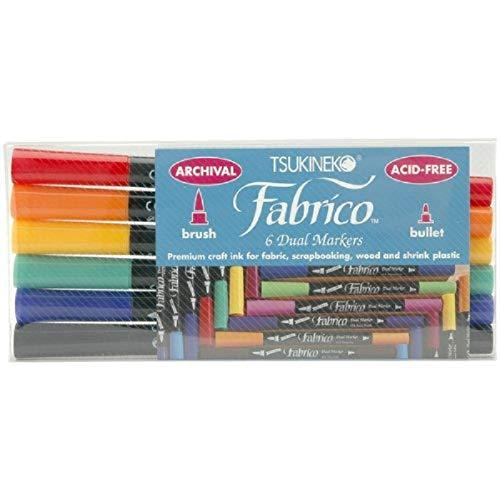 Tuskineko Fabrico Dual-Tip Markers, Standard, 6-Pack (PF-6-10000)