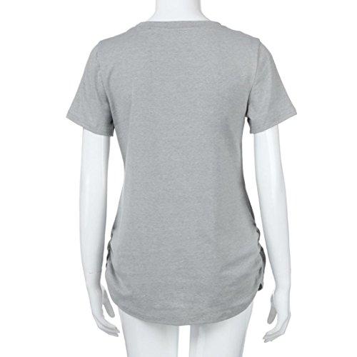Femme Shirt Zipper T Impression Maternity Enceinte QinMM B Top tqEvCxUtw