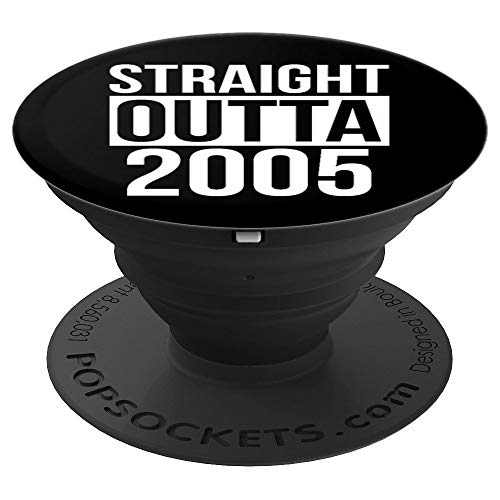 Straight Outta 2005 14th Birthday Gift Funny 14 Year Old PopSockets Grip and Stand for Phones and Tablets (Best Phone For 14 Year Old)