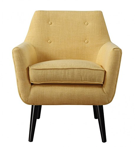 Clyde Mustard Yellow Linen Chair