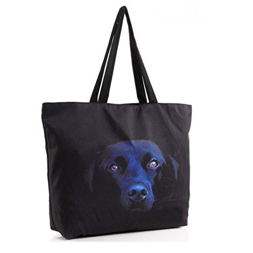 Belsen - Bolso al hombro para mujer multicolor devil Talla única Black Dog