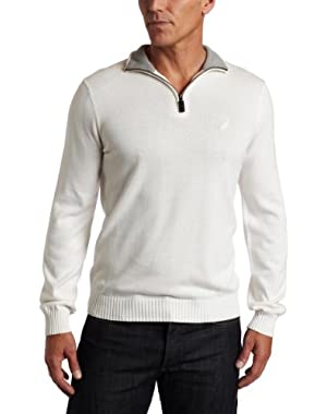 Men's 1/4 Zip Solid Sweater