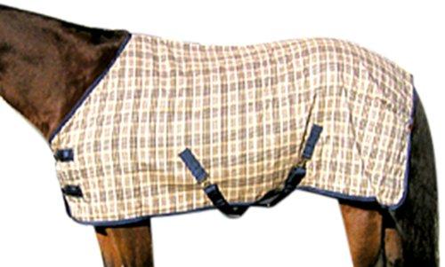 High Spirit Horseman's Plaid Cotton Sheet, 78-Inch, Navy Plaid