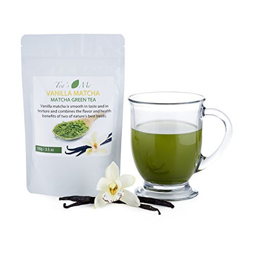 Vanilla Matcha Green Tea Powder-Organic Japanese Culinary Matcha Tea w/ Natural Vanilla Extract- Great for Tea, Smoothie or Sweet Latte - 3.5 oz