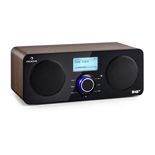 auna Worldwide ST - Radio con Internet , Radio Digital , Radio con wi-fi , Reproductor de Red , Dab / Dab+ , FM / AW , RDS , Puerto USB con MP3 , ...