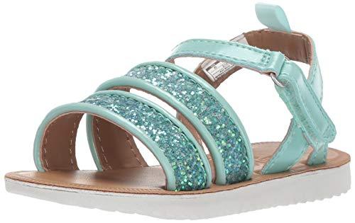 OshKosh B'Gosh Boys Stella Girl's Strappy Sandal, Turquoise 1 M US Little ()