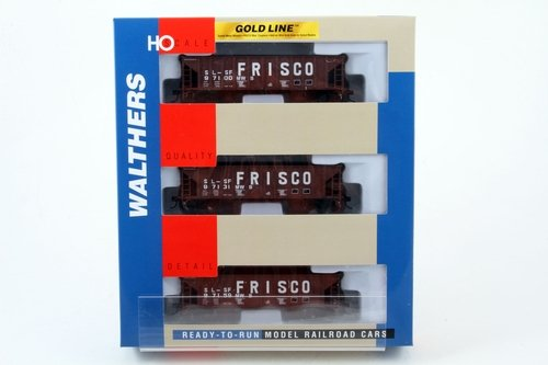 Walthers 932-34241 Gold LINE Ballast Hopper 3-Pack Frisco ()