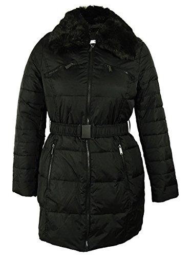DKNY Women's Faux Fur Coat (L, - Dkny Down Coats