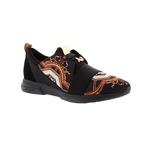 Ted Baker Womens Black Versailles Cepap Sneakers-UK - Stockist Baker Ted