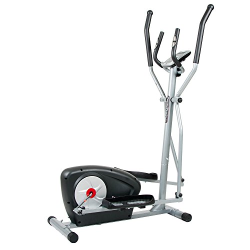 Body Champ Magnetic Elliptical Machine Exercise Trainer with Computer Resistance and Programs/Space saving Compact BR1895