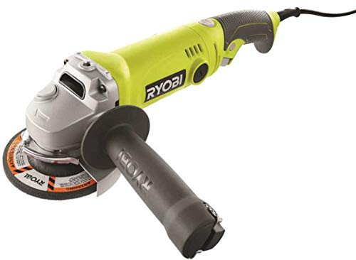Ryobi AG454 7.5 Amp 120V AC 11,000 RPM Corded Angle Grinder w/ Rear Rotating Handle
