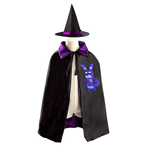 Bonnie the Bunny Kids Halloween Party Costume Cloak Wizard Witch Cape With Hat - Bonnie Costume For Sale