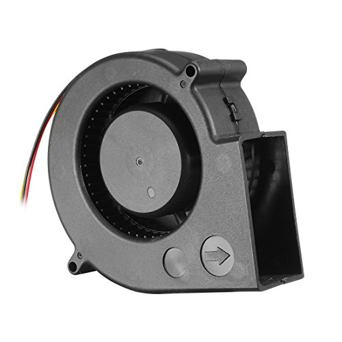 uxcell 97mm x 33mm 12V DC Blower Cooling Fan, Long Life Dual Ball Bearings