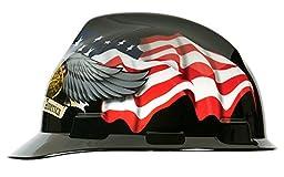 MSA 10079479 Slotted V-Gard Polyethylene Cap with Fas Trac III Suspension, American Eagle