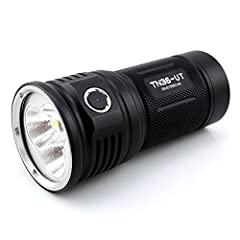Specifications • LED: XHP 70 with a lifespan of 20+ years of run time. • Runs on: 4 x 18650 (ThruNite 18650 3200Mah). • Working Voltage: 10.5 - 17.5 V. • Output mode/Runtime:  -Strobe(7300 lumens /137 minutes) -Turbo(7300 lumens /95 minutes) ...