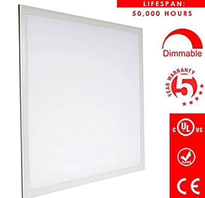LED 2x2 Ft Panel Edge-Lit, Dimmable, 40W, 5000K Day Light, 4000 Lumens, Drop Ceiling Light, UL