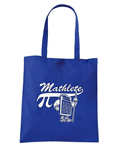MATHLETE Borsa Shopper Blu FUN0076 Royal fqgIgrX