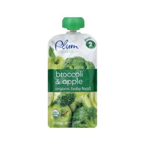 Plum Organics Baby Broccoli Apple 4.22-Ounce Pouches (Pack of 6) - Pack Of 6 by Plum Organics