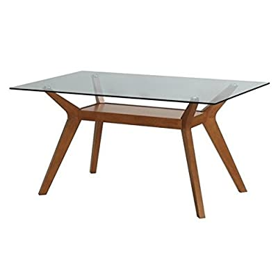 Coaster 122171 Home Furnishings Dining Table, Nutmeg -  - kitchen-dining-room-furniture, kitchen-dining-room, kitchen-dining-room-tables - 41XpFE0eaBL. SS400  -