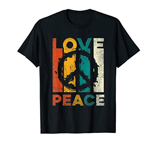 Love Peace Freedom T-Shirt 60s 70s Tie Dye Hippie Shirt Tee