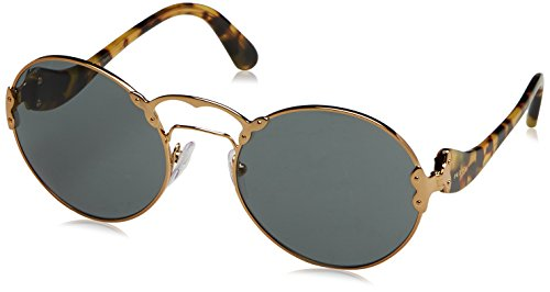 Prada Sol 0PR55TS Dorado 57 7OE9K1 Gold Grey Antique Unisex Adulto Gafas de 1xSZAwrq1