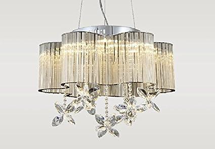 Plafoniere Soffitto Cristallo : Lampadari in cristallo cromato lampada a due luci