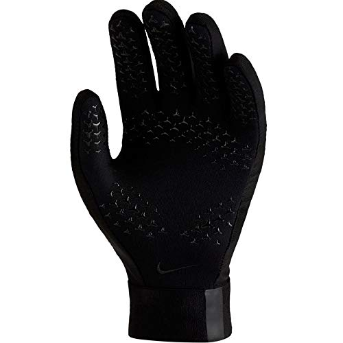 Nike Youth Hyperwarm Academy Field Player Soccer Gloves (Large, Black)