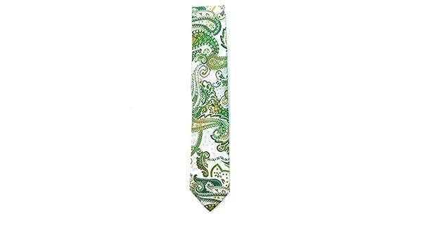 Francisco Pavón Corbata verde lima de cachemir en los mismos tonos ...
