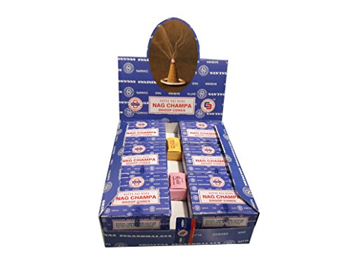 Nag Champa Satya Sai Baba Temple Incense Cones Carton, 12 Box by Nag Champa