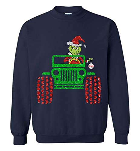 Grinch Driving Jeep Sweatshirt