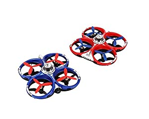 Hobbylane Battle Racing Drones Scout with Camera 2 Player Set CX-60, Mobile WIFI Remote Control Racing Games for Kids, AIR Dominator Multiplayer Fighting Mode Infrared Quadcopter (Red Blue 2pcs)