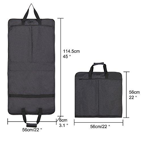 Hynes Eagle 45 inch Portable Garment Bag Hanging Travel Foldable Suit Bag Black by Hynes Eagle (Image #6)