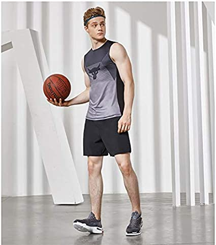 Fysupotsu Mens Casual Soft Cotton Elastic Jogger Gym Active Pocket Shorts Man Sports Clothing