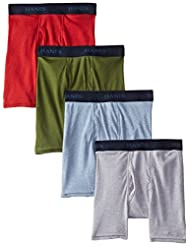 Hanes Ultimate Boys` Dyed Boxer Brief with Comfort Flex Waistband, BU740K, L