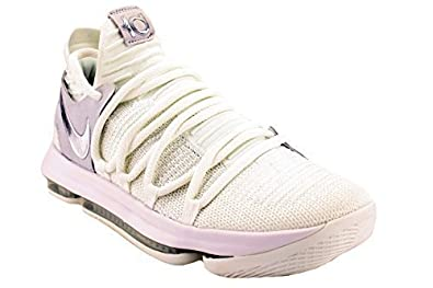 f2cf5a96b6a89 Image Unavailable. Image not available for. Color  Nike Zoom KD 10 White Chrome Pure  Platinum Men s Basketball Shoes ...
