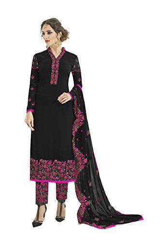 Indianfashion Store Indian Women Designer Partywear Ethnic Traditonal Black Salwar Kameez by Indianfashion Store