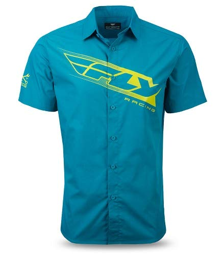 (Fly Racing Unisex-Adult Pit Shirt Teal/Lime Large )