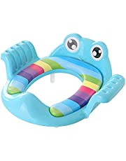 Kids Potty 2 Colors Folding Baby Potty Infant Kids WC Training Seat with Adjustable Ladder Portable Urinal Potty Seat Children (Farbe : BY02 Blue)