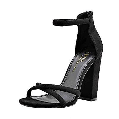 Women's Strappy Chunky Block High Heel Cross - Formal, Wedding, Party Simple Classic Pump