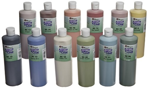 Mayco Stroke and Coat Wonderglaze for Bisque Set A - 1 Pint - Set of 12 - Assorted Colors by Mayco
