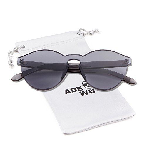 de una montura 1 Gafas de pieza de sol ADEWU de sin Gris Gafas sol colores transparentes FqfYPwgx