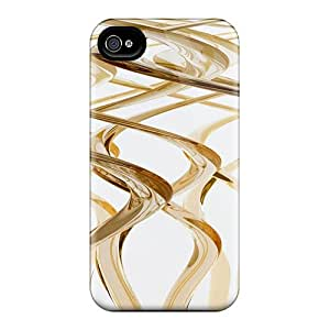 High Quality KBmdFWI6512aLYPT Gold Strs 111 Tpu Case For Iphone 4/4s