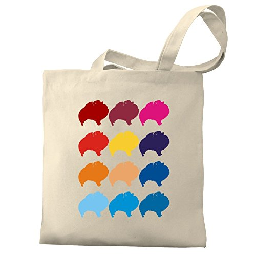 Tote Canvas Eddany Pomeranian Eddany Colorful Bag Colorful qxXwIIdCP