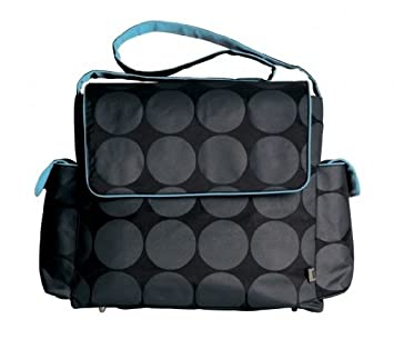OiOi 6058 Messenger Diaper Bag, Grey/Black, 7