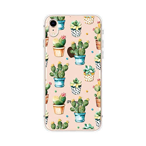 0bf085cc7c Image Unavailable. Image not available for. Color: iPhone XR Case,Blingy's  New Clear Cute Cactus ...
