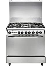 White Point WPGC 8060XA Stainless Steel Gas Cooker With Grill & Fan - 5 Burners