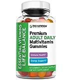 Premium Vegan Multivitamin Gummies | Fresh Essential Vitamins A, B, C, D, E & Mineral Zinc | Perfect Immune & Energy Support | Wth Pectin, NO Gelatin, No Preservatives, Gluten Free | Very Delicious*